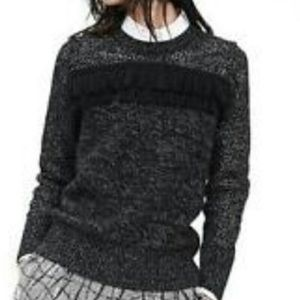 Banana Republic Black Fringe Sweater XL